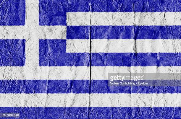 full frame shot of greek flag - greek flag stock pictures, royalty-free photos & images