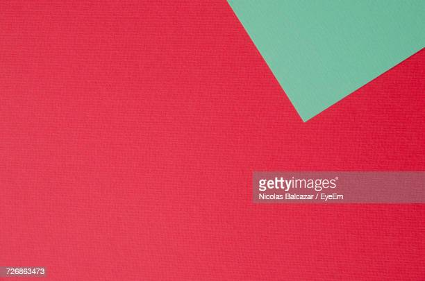 Full Frame Shot Of Green And Red Papers