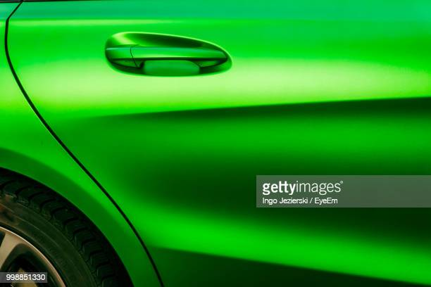 Full Frame Shot Of Green Car