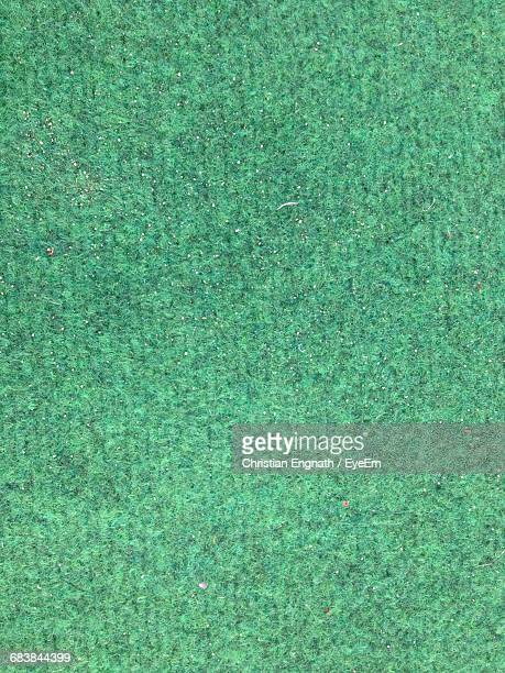 Full Frame Shot Of Green Carpet