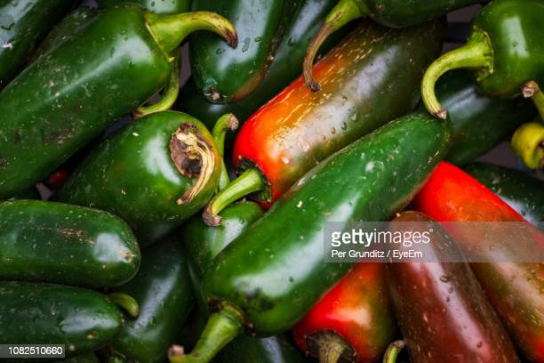 full frame shot of green chili peppers - per grunditz stock pictures, royalty-free photos & images