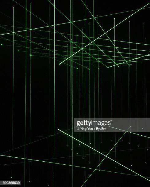Full Frame Shot Of Green Laser Light