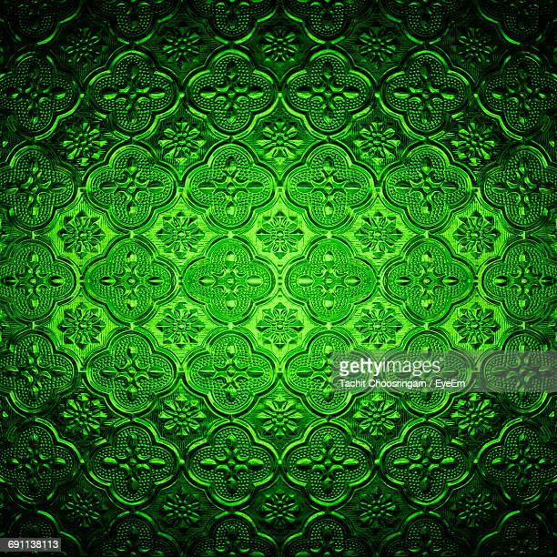 Full Frame Shot Of Green Pattern