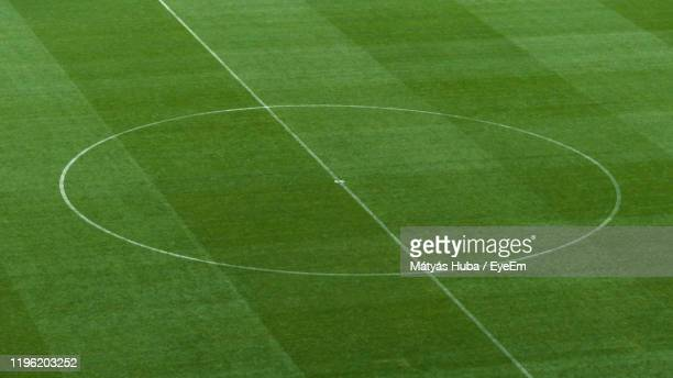 full frame shot of green soccer field - football pitch stock pictures, royalty-free photos & images