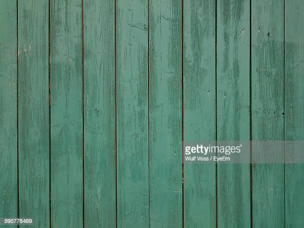 Full Frame Shot Of Green Wooden Fence
