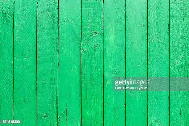 Full Frame Shot Of Green Wooden Table
