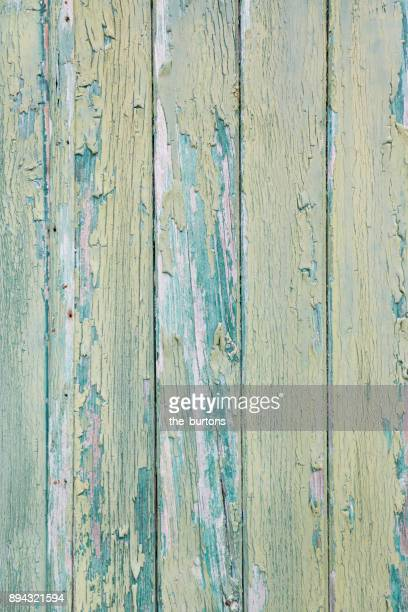 Full frame shot of green wooden wall