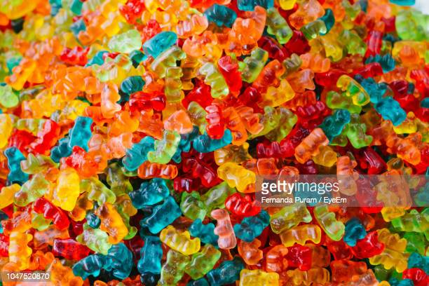 full frame shot of gummy bears - gummi bears stock photos and pictures