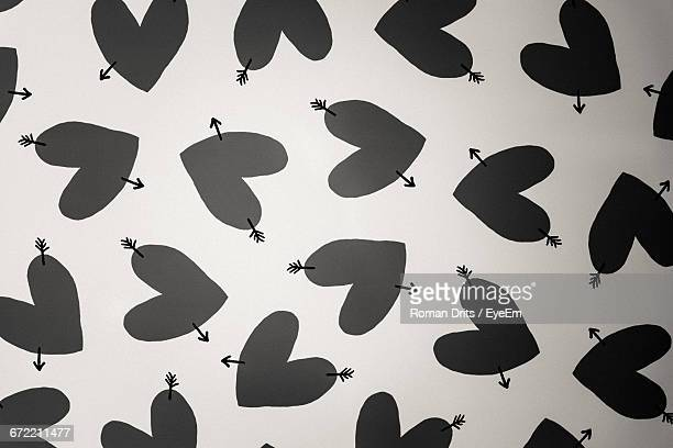 Full Frame Shot Of Hearts On Wall