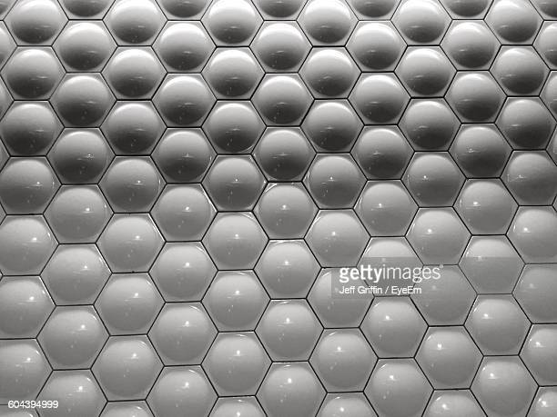 Full Frame Shot Of Hexagon Pattern Wall