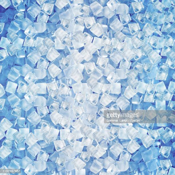 full frame shot of ice cubes - ice cube stock pictures, royalty-free photos & images