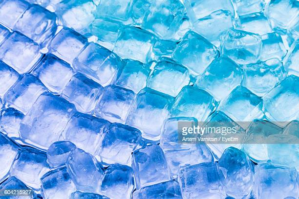 Full Frame Shot Of Ice Cubes