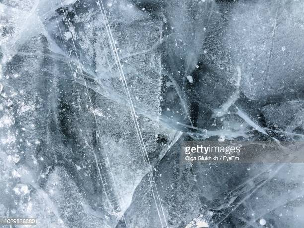full frame shot of ice - ice stock pictures, royalty-free photos & images