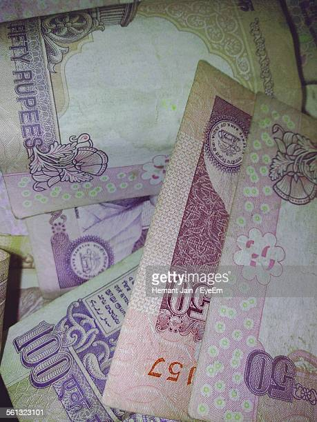 full frame shot of indian bank notes - indian currency stock photos and pictures