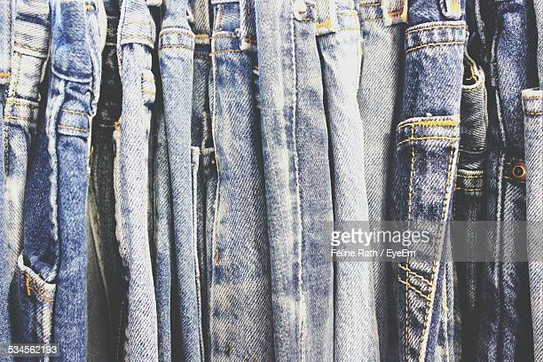full frame shot of jeans - jeans stock photos and pictures