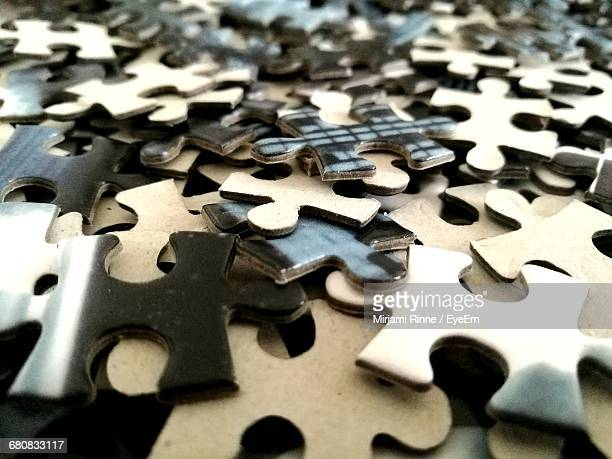 Full Frame Shot Of Jigsaw Puzzles
