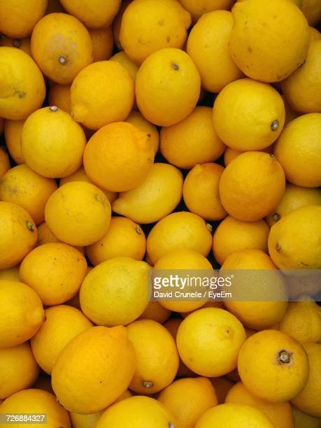 Full Frame Shot Of Lemon For Sale At Market