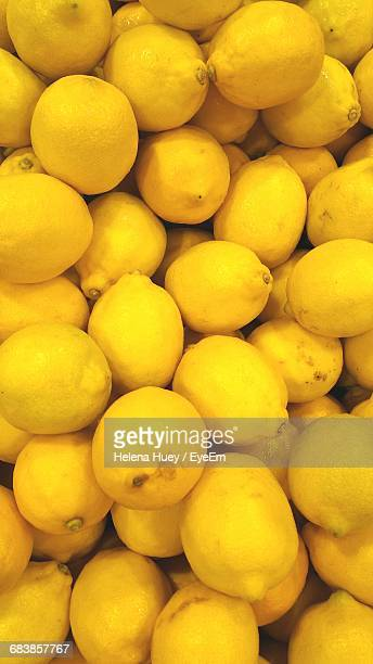 Full Frame Shot Of Lemons At Market