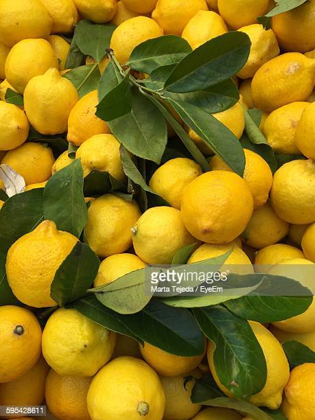 Full Frame Shot Of Lemons At Market Stall