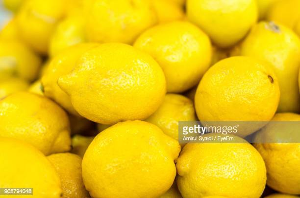 Full Frame Shot Of Lemons For Sale At Market