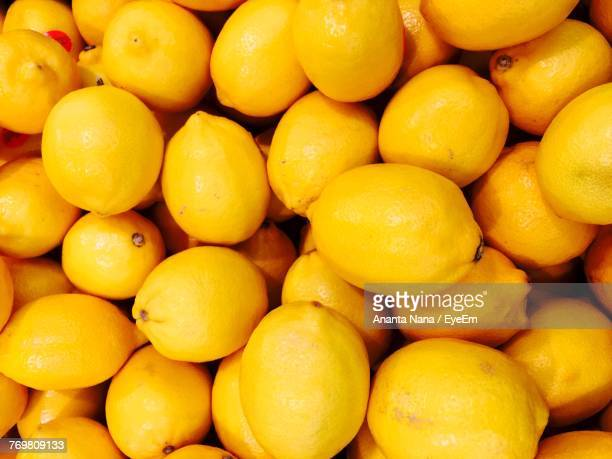Full Frame Shot Of Lemons In Market