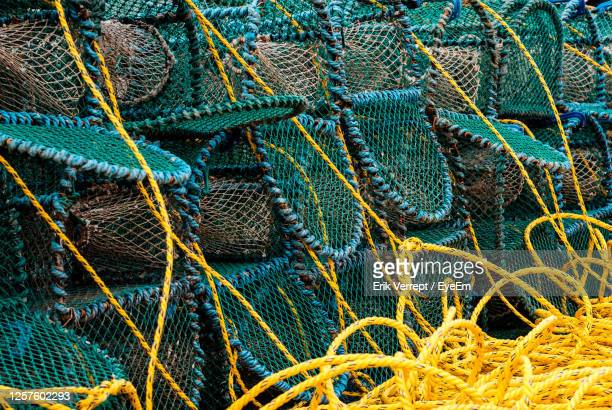 full frame shot of  lobster traps - extreme close up stock pictures, royalty-free photos & images