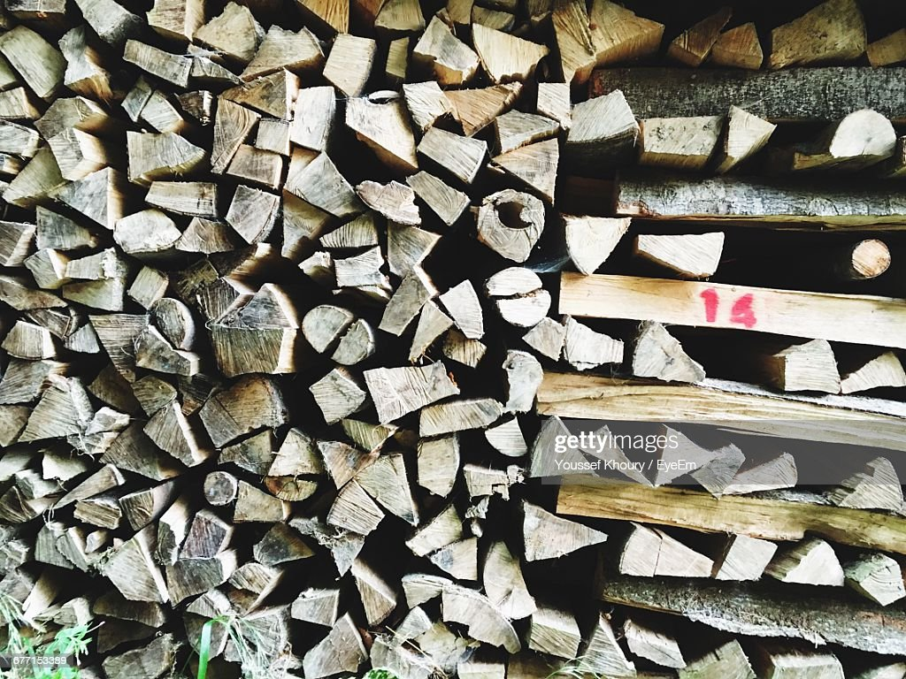 Full Frame Shot Of Logs : Foto stock