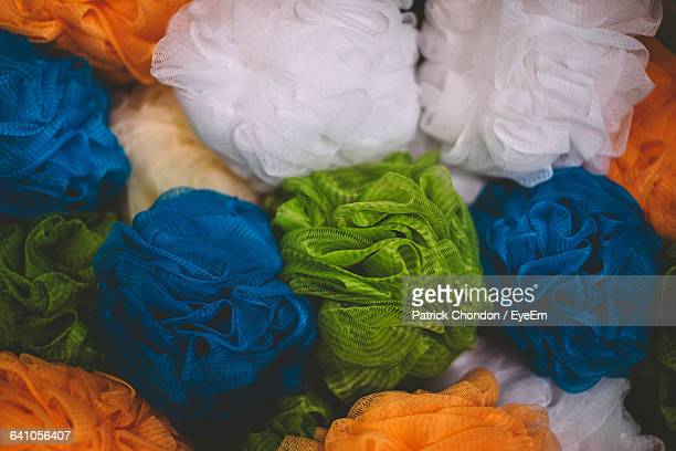 Full Frame Shot Of Loofahs