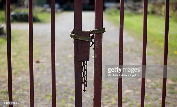 full frame shot of metal gate - paulien tabak photos et images de collection