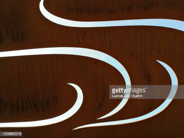 full frame shot of metalwork - lucinda lee stock pictures, royalty-free photos & images