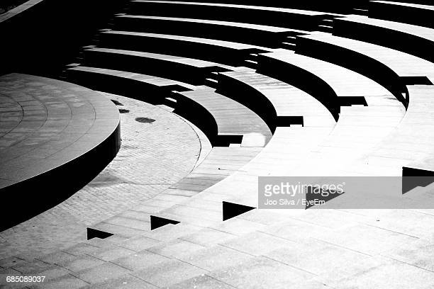 full frame shot of modern amphitheater - amphitheatre stock photos and pictures