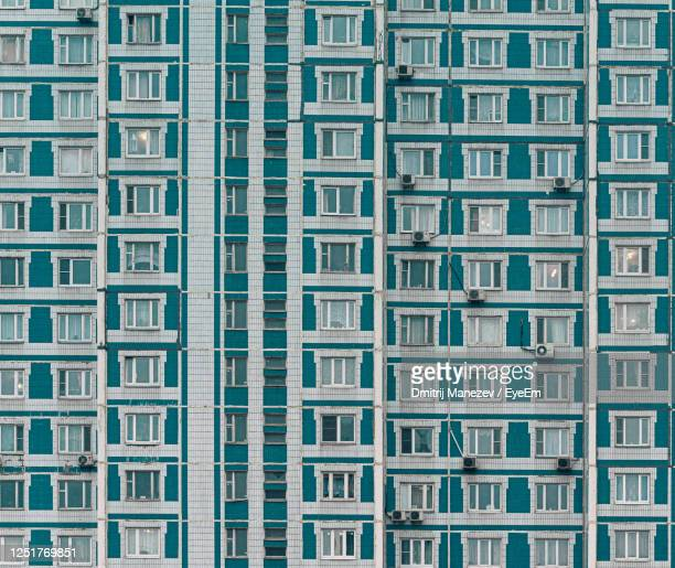 full frame shot of modern building - former soviet union stock pictures, royalty-free photos & images