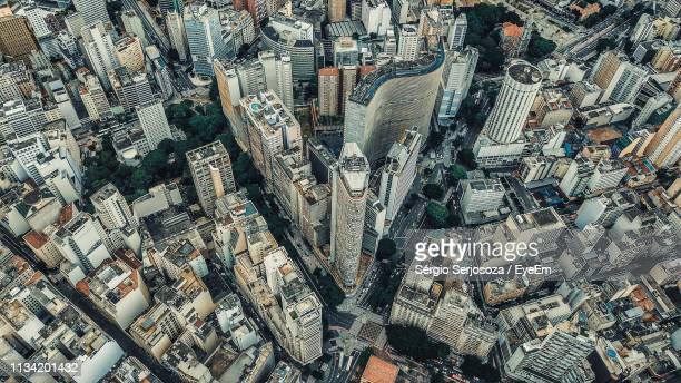 full frame shot of modern city buildings - são paulo stock pictures, royalty-free photos & images