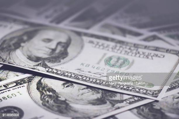 full frame shot of money - american one hundred dollar bill stock pictures, royalty-free photos & images