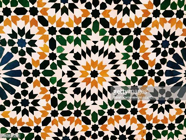Moroccan tile wallpaper stock photos and pictures getty for Moroccan wallpaper uk