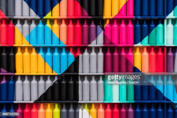 full frame shot of multi colored bottles - eyeem collection stock pictures, royalty-free photos & images