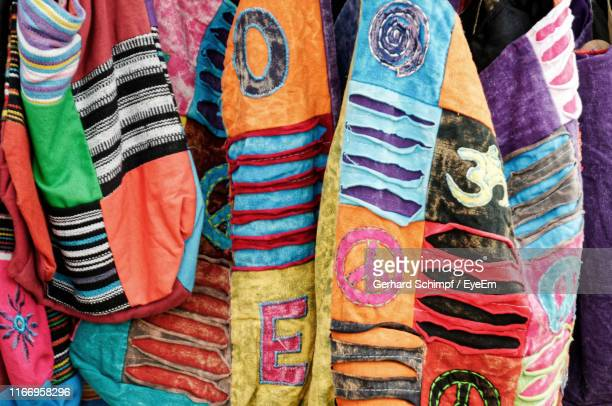 full frame shot of multi colored clothing - gerhard schimpf stock photos and pictures
