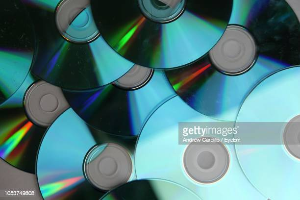 full frame shot of multi colored compact disc - compact disc stock pictures, royalty-free photos & images