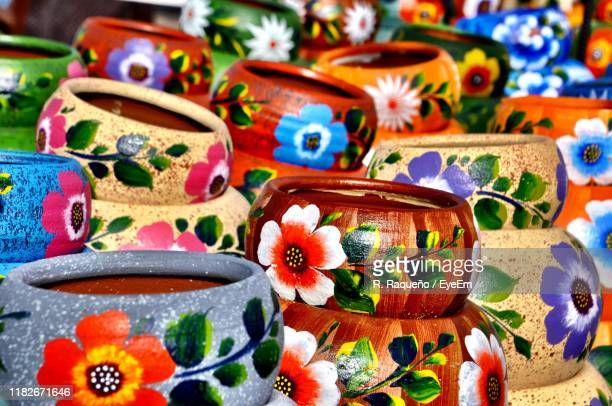 full frame shot of multi colored containers for sale in market - old town san diego stock pictures, royalty-free photos & images