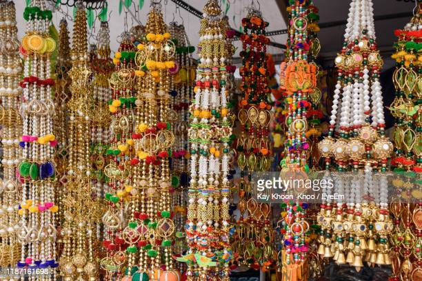 full frame shot of multi colored decorations for sale in market - bead stock pictures, royalty-free photos & images