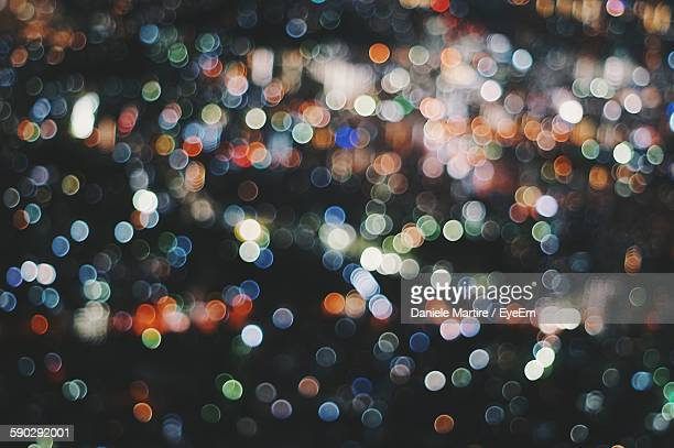 Full Frame Shot Of Multi Colored Defocused Lights