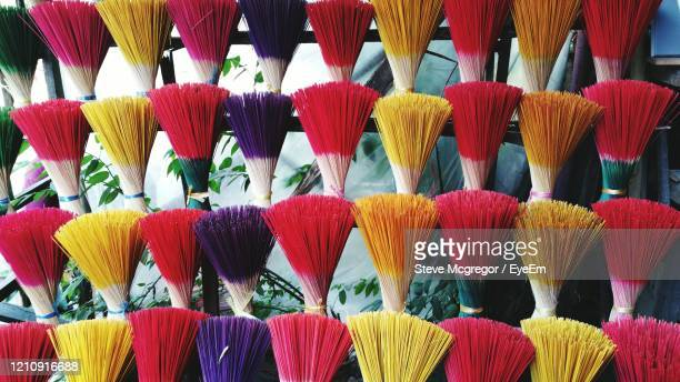 full frame shot of multi colored incense for sale in market - mcgregor stock pictures, royalty-free photos & images