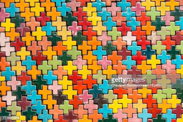 Full Frame Shot Of Multi Colored Jigsaw Puzzle