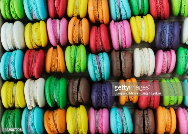 full frame shot of multi colored macaroons - eyeem collection stock pictures, royalty-free photos & images