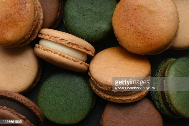 full frame shot of multi colored macaroons - スイーツ ストックフォトと画像