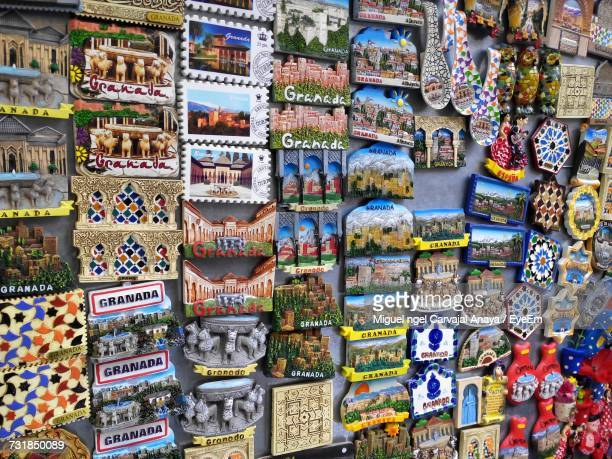 full frame shot of multi colored magnets for sale in market - carvajal ストックフォトと画像