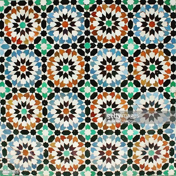 Full Frame Shot Of Multi Colored Mosaic Tile