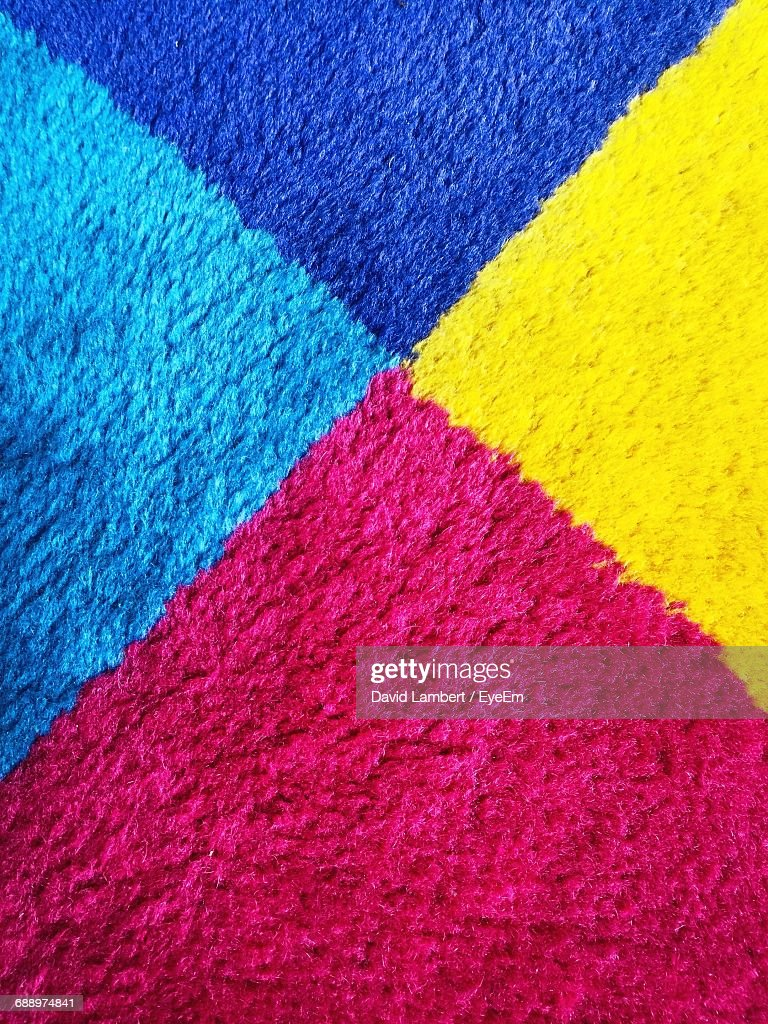 Full Frame Shot Of Multi Colored Rug : Stock Photo