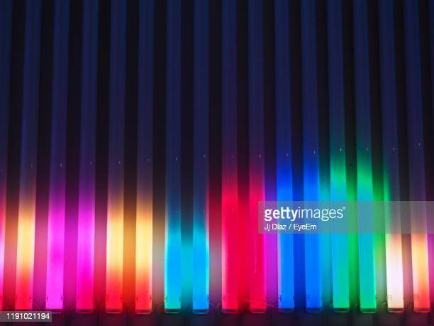 full frame shot of multi colored stage lights - disco dancing stock pictures, royalty-free photos & images