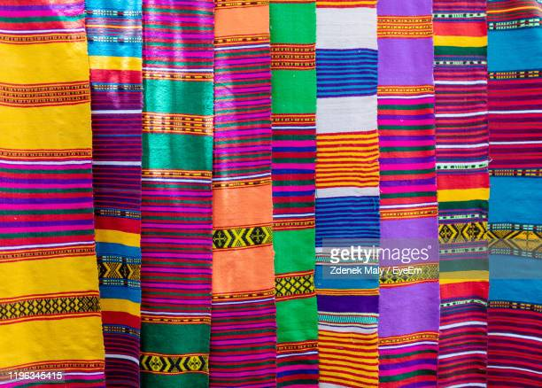 full frame shot of multi colored textile for sale in market - eyeem collection stock pictures, royalty-free photos & images